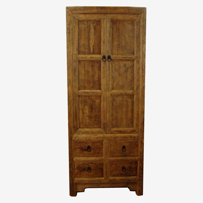 Tall Oriental Chinese Cabinet In Wood