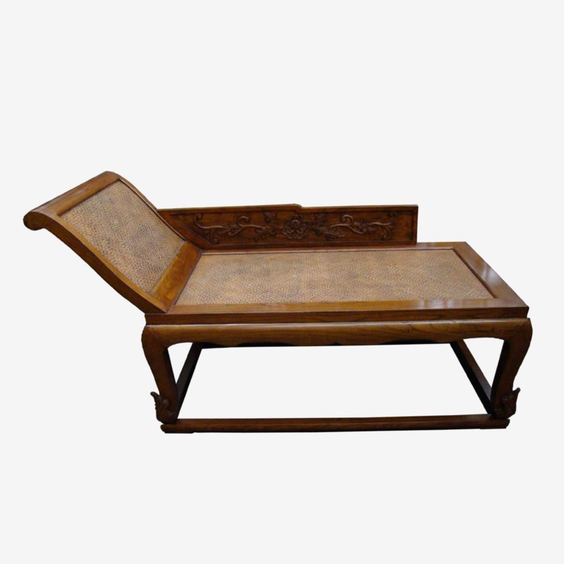 Wooden Chinese Daybed Chaise Seat