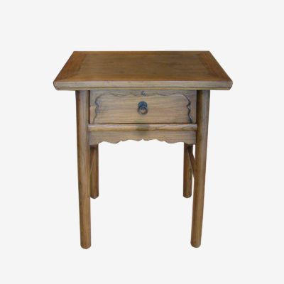 Small Oriental Chinese One Drawer Wooden Table